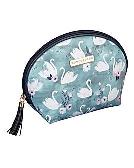 Swan Lake Blue Cosmetic Bag
