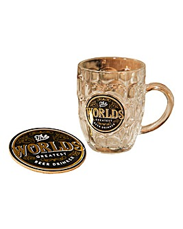Brewmaster Beer Tankard And Coaster