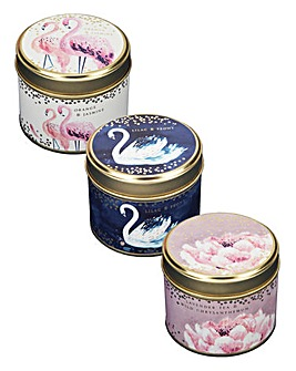 Swan Lake Candles Set Of 3