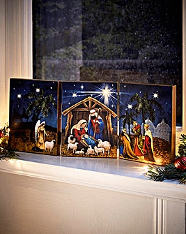 Nativity LED Triptych