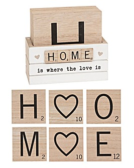 Scrabble Coasters Home set of 6