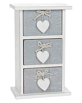Provence Grey 3 Drawer Mini Chest