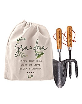 Personalised Floral Gardening Tool Set