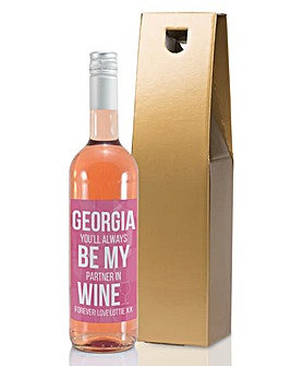 Personalised Partner in Wine Bottle