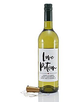 Personalised Love Wine with bottle light