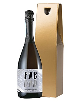 Personalised Fab Dad Prosecco