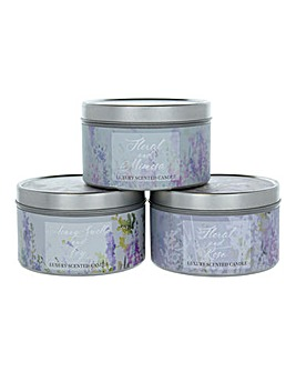 Secret Garden Set Of 3 Candles