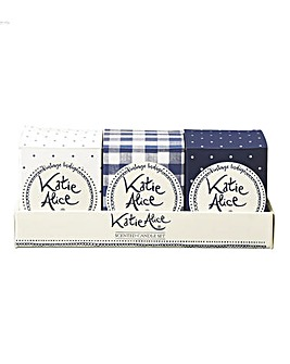 Katie Alice Vintage Indigo 3 Candles