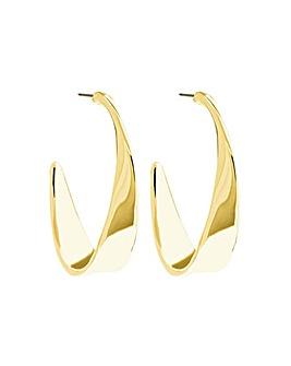 Mood Gold Plated Twist Hoop Earring