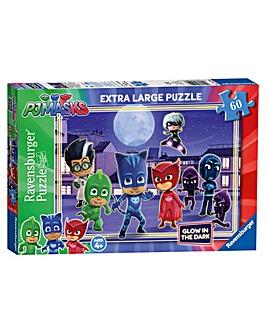 PJ Masks Glow In The Dark Puzzle 60 Pc