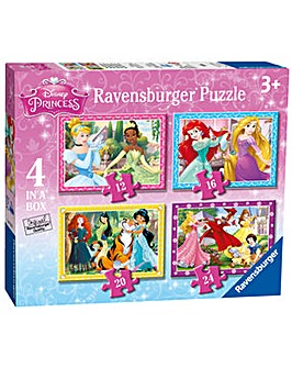 Disney Princess 4 In A Box Puzzle