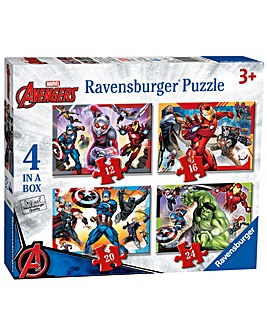 Marvel Avengers 4 In A Box Puzzle