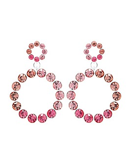 Mood Tonal Pink Midi Circle Drop Earring