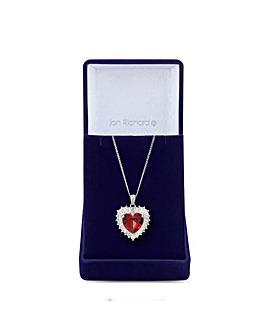 Jon Richard Silver Red Heart Pendant
