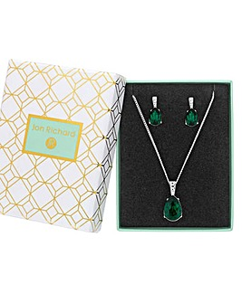 Jon Richard Green Crystal Pear Set
