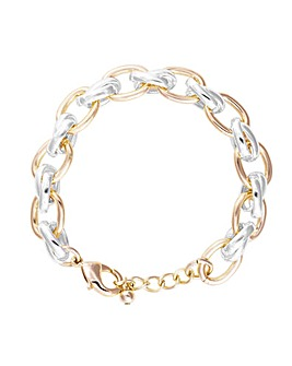 Mood Silver & Gold Plate Chain Bracelet