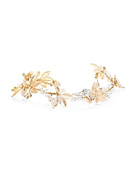 Jon Richard Gold Leaf & Floral Hair Vine