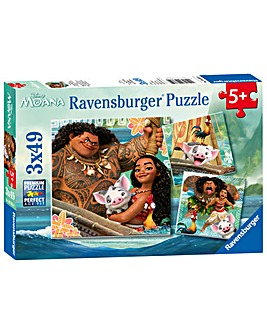 Disney Moana 3 In A Box Puzzle