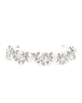 Jon Richard Silver Leaf & Bead Headband