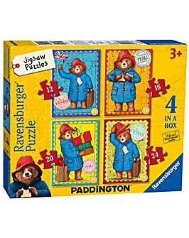 Paddington Bear 4 In A Box Puzzle