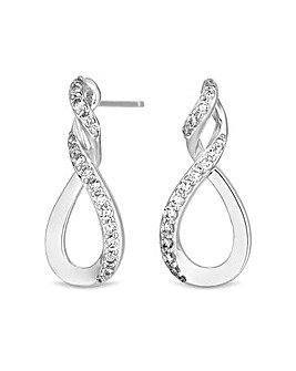 Simply Silver Infinity Top Twist Earring