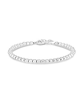Simply Silver Large Ball Bracelet