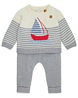 Monsoon New Born George Knitted Boat Set