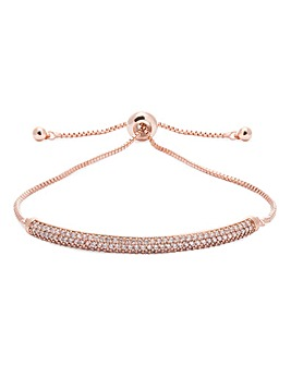 Jon Richard Rose Gold Pave Bar Toggle