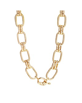 Gold Plated Chain Link Necklace