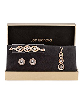 Jon Richard Rose Gold Swirl Trio Set