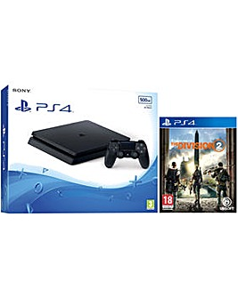 PS4 500GB Console and The Division 2