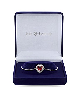 Jon Richard Silver Red Heart Toggle