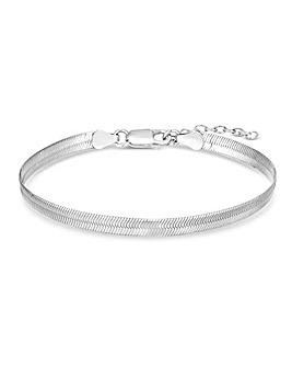 Simply Silver Flat Snake Bracelet