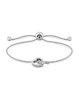 Jon Richard Crystal Heart Bracelet