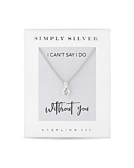 Simply Silver Necklace For Bridesmaids