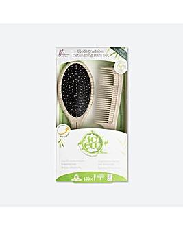 So Eco Biodegradable Detangling Hair Set