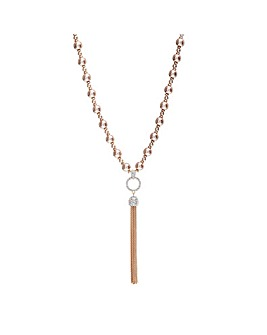 Jon Richard Rose Gold Pearl Necklace