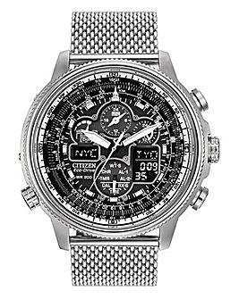 Citizen Eco-Drive Navihawk Gents Watch With Mesh Strap
