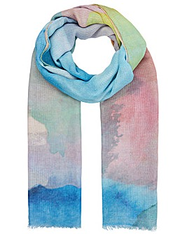 Accessorize Watercolour Print Scarf