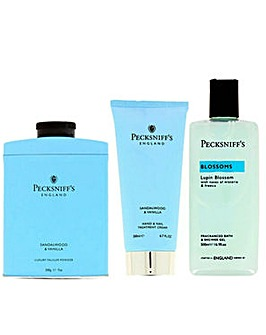 Pecksniffs Talc Handcream Bodywash Blue Pack