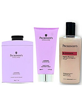Pecksniffs Talc Handcream Bodywash Purple Pack