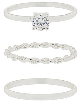 Accessorize Sparkle Ring Set
