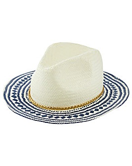Monsoon Alba Aztec Lurex Fedora Hat
