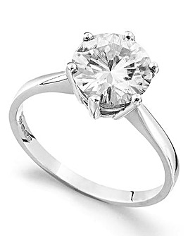 Moissanite 9 Carat Gold 3 Carat Solitaire Ring