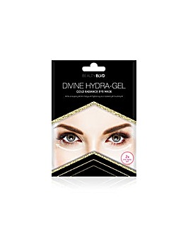 Beauty Blvd Divine Hydra-Gel Gold Radiance Eye Mask x 2