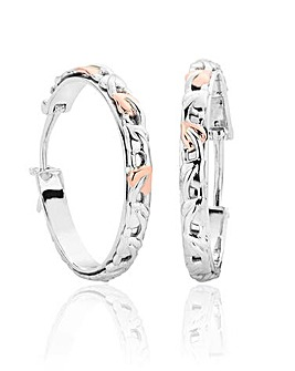 Clogau Sterling Silver and 9 Carat Rose Gold Tree of Life Earrings