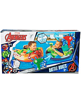 Avengers Battle Boats With Blasters