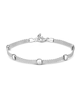 Simply Silver Mesh Station Bracelet