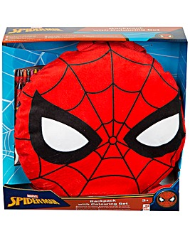Spiderman Backpack with Colouring Set
