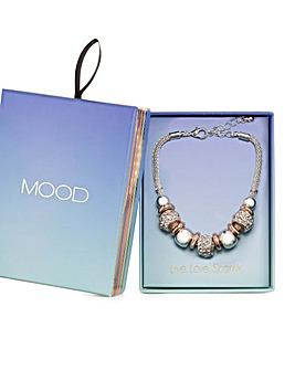 Mood Mix Crystal Link Section Bracelet